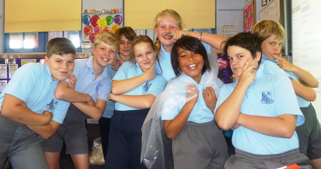 """Heather (moustache) with the """"kool kids"""""""