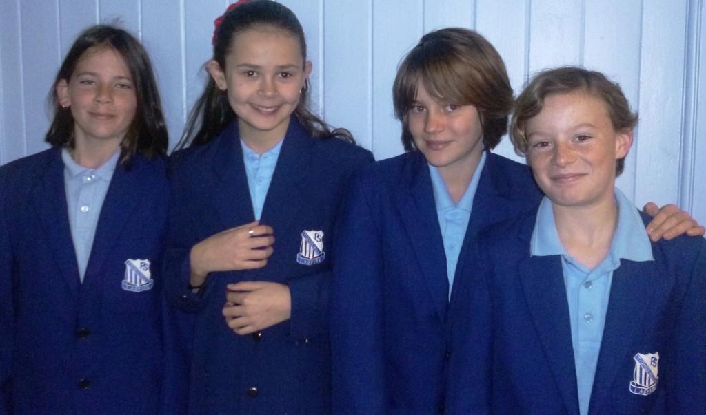 Year 5 debaters - Amy, Bella, Eva and Dayna