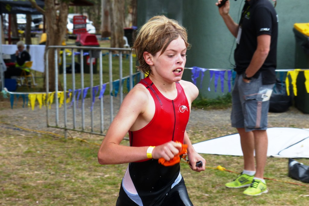Mitch - competing in the Forster triathlon