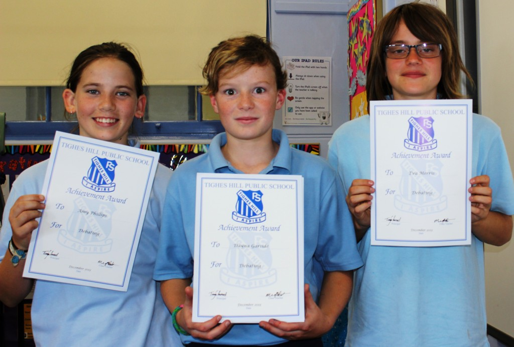 Year 5 Debaters- Amy, Dayna and Eva