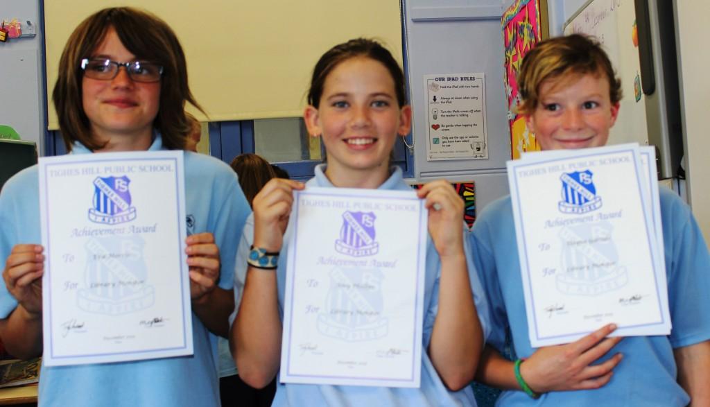 Library Monitors- Eva, Amy and Dayna