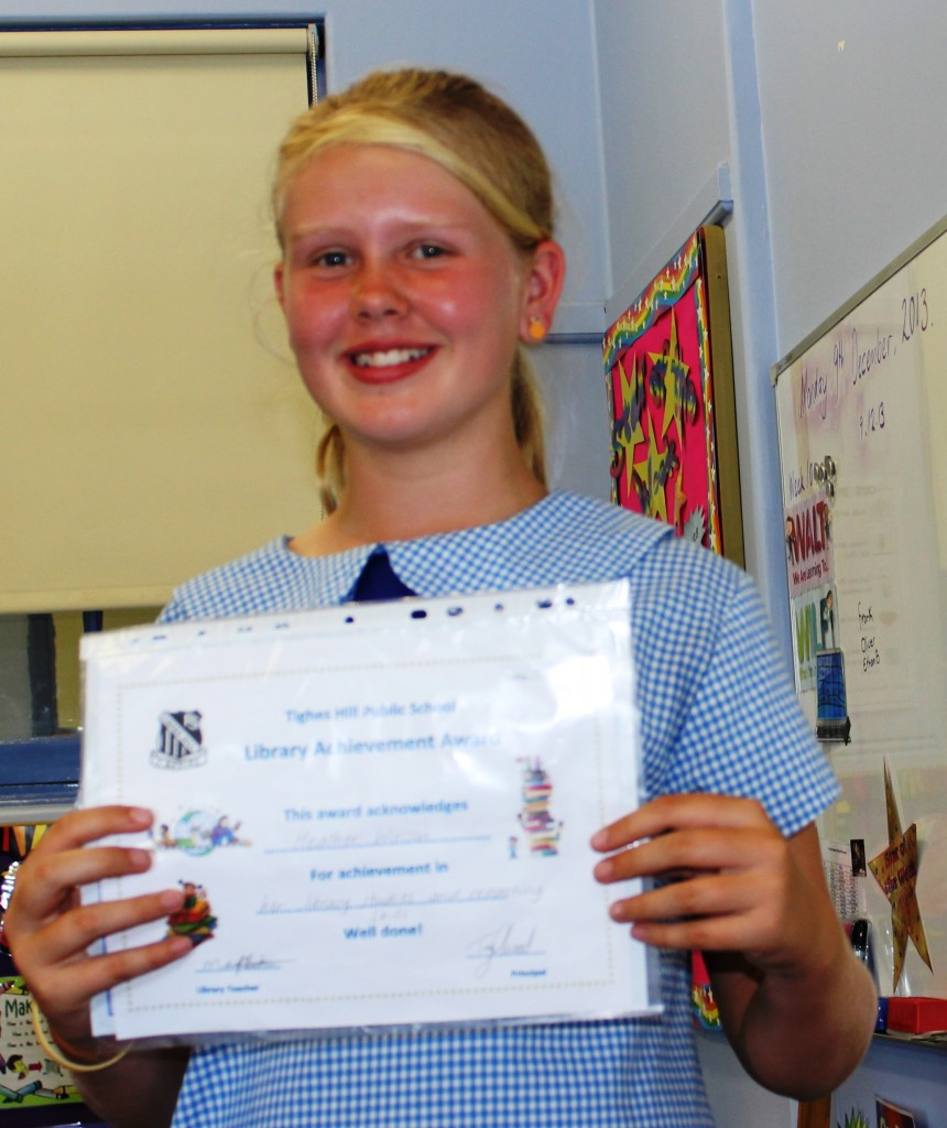Miss Beker's Term 4 Library Award - Heather