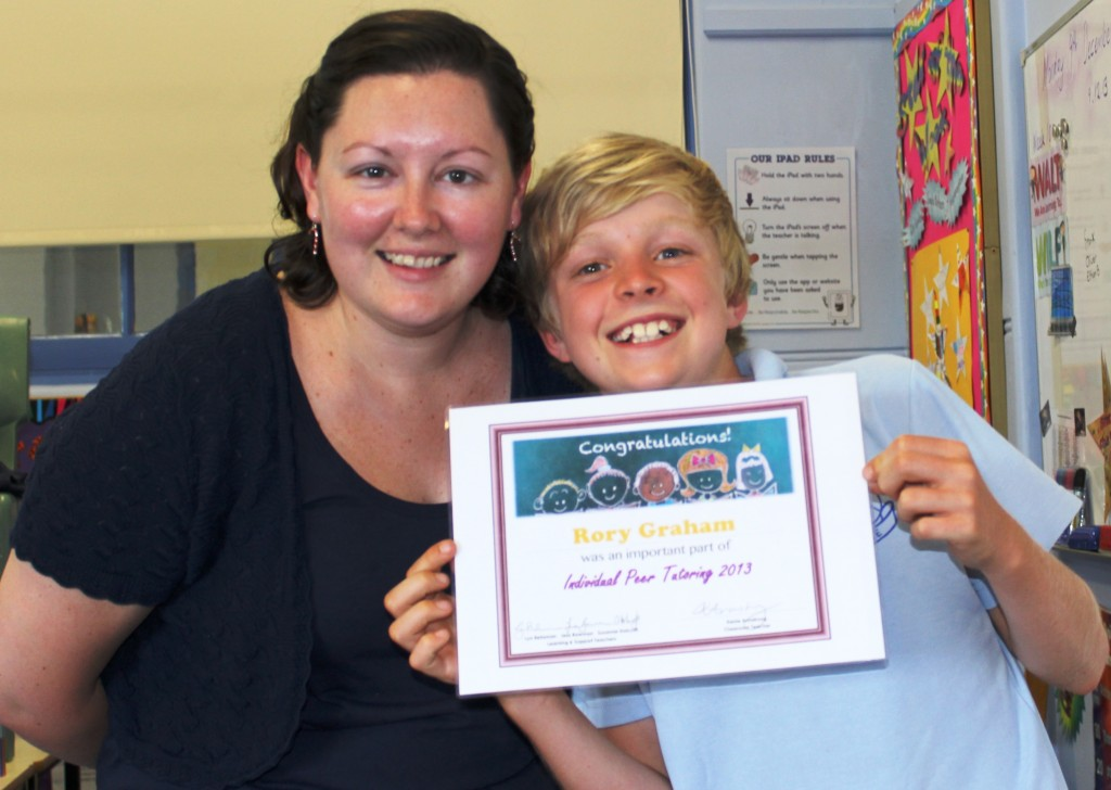 Peer Tutoring Award - Rory