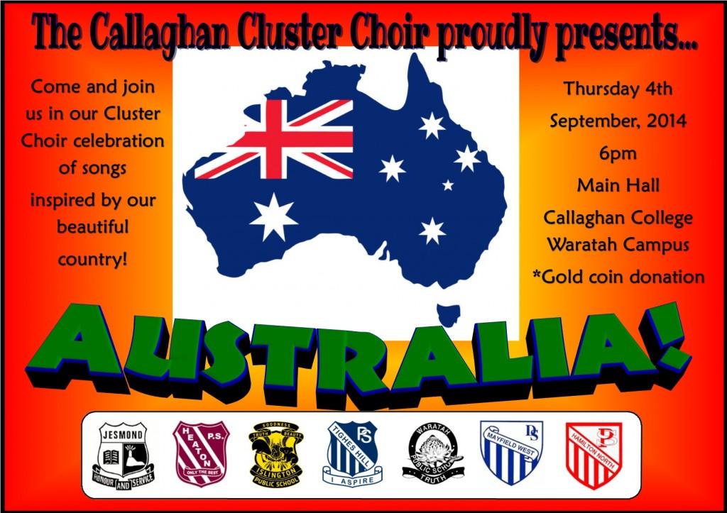 cluster choir australia poster