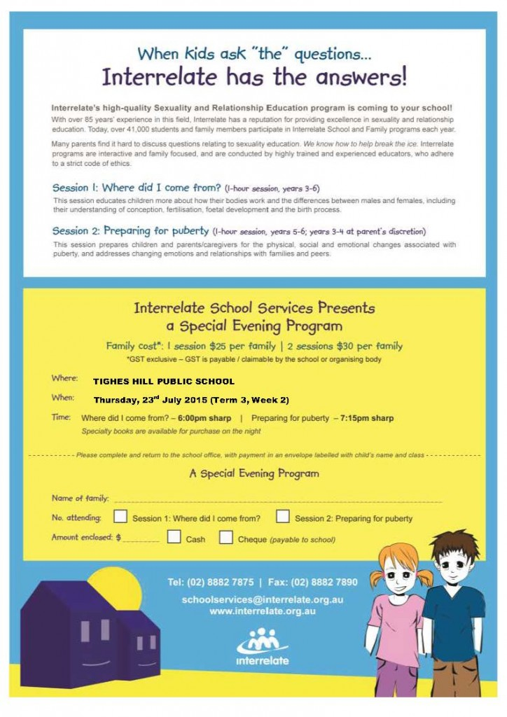 Interrelate FAM Flyer 2.Tighes Hill PS