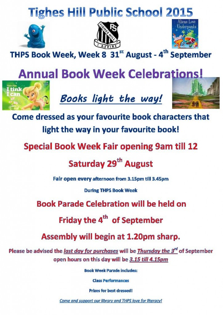 THPS book week poster2015