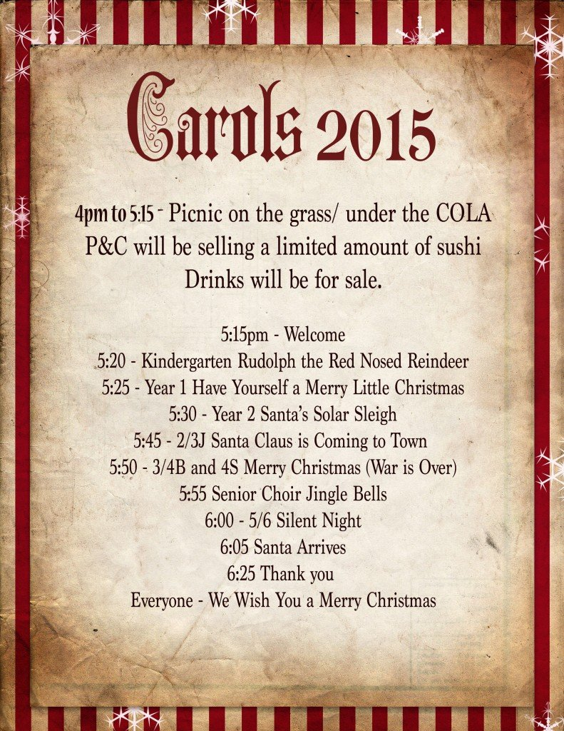carols runsheet smaller