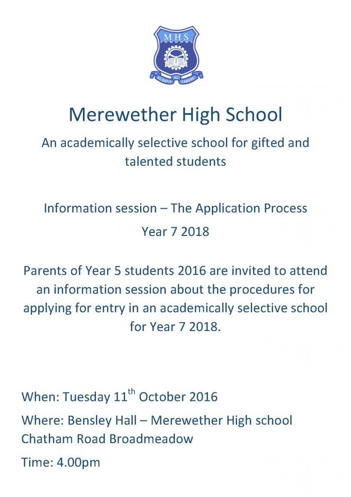 merewether-flyer-year-5-info-session-2